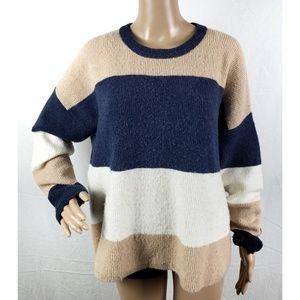 Madewell Sweater Sz M Striped Oversized Sweater